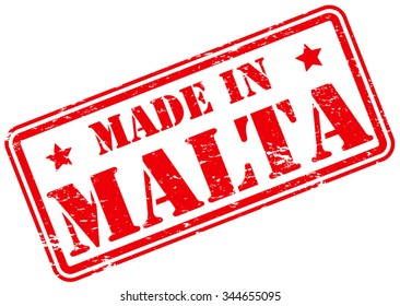 Made in Malta Rubber Stamp