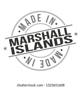 Made In Marshall Islands Stamp. Logo Icon Symbol. Design Certificated Round.