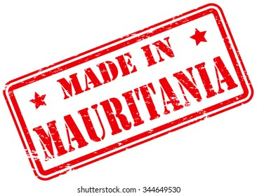 Made in Mauritania Rubber Stamp