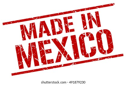 made in Mexico stamp. Mexico grunge vintage isolated square stamp. made in Mexico