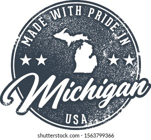 Made in Michigan State Packaging Label