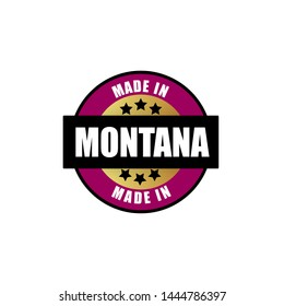 made in Montana stamp. product of Montana. rubber stamp with text made in Montana. product label or sticker.
