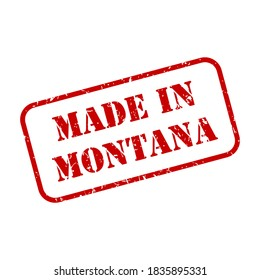 Made in Montana state sign in rubber stamp style vector