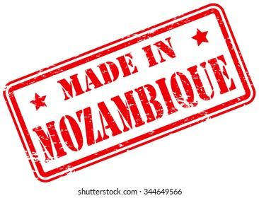 Made in Mozambique Rubber Stamp