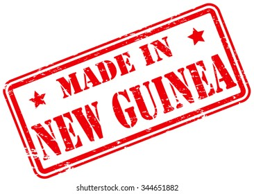 Made in New Guinea Rubber Stamp