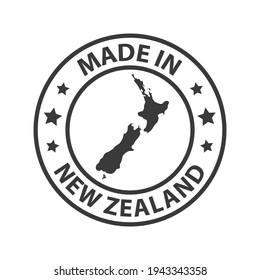 Made in New Zealand icon. Stamp sticker. Vector illustration