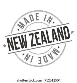 Made In New Zealand Stamp Logo Icon Symbol Design. Seal Badge National Product Vector.