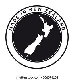 Made in New Zealand vector logo sticker button