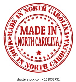 Made in  North Carolina grunge rubber stamp, vector illustration