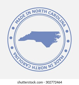 Made in North Carolina seal. Sign of production. Vector illustration EPS8