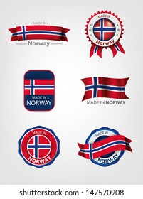 Made in Norway, seals, flags