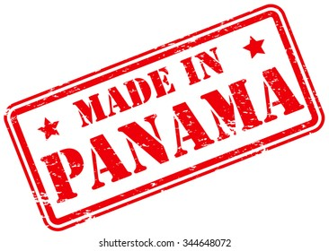Made in Panama Rubber Stamp
