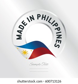 Made in Philippines transparent logo icon silver background
