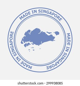 Made in Singapore seal. Sign of production. Vector illustration EPS8