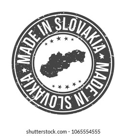 Made in Slovakia Quality Original Stamp Design Vector Art