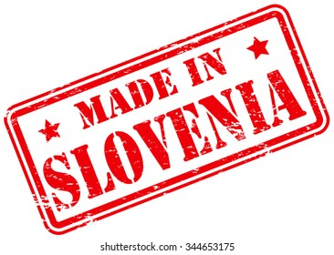 Made in Slovenia Rubber Stamp