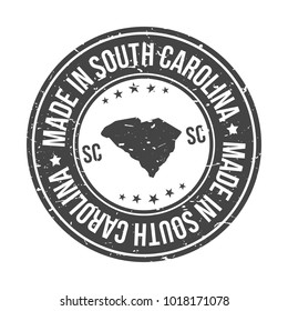 Made in South Carolina State USA Quality Original Stamp Design Vector Art