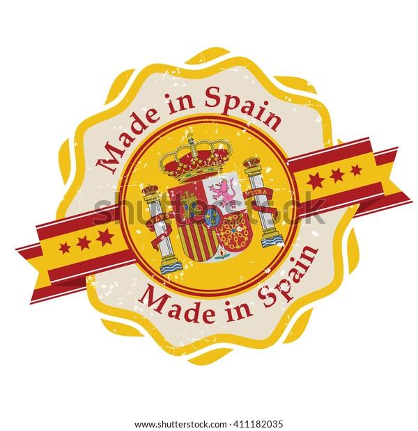 photograph regarding Printable Spanish Flag named Developed Spain Grunge Printable Label Grunge Inventory Vector