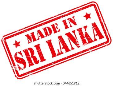 Made in Sri Lanka Rubber Stamp