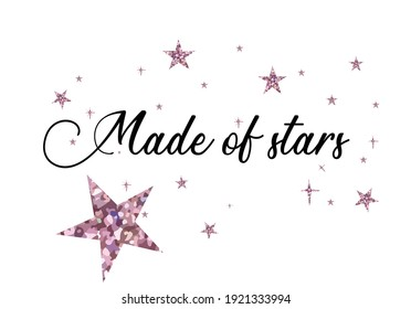 made of stars hand drawn vector