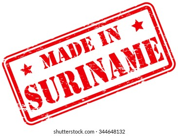 Made in Suriname Rubber Stamp