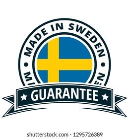 Made in Sweden label illustration