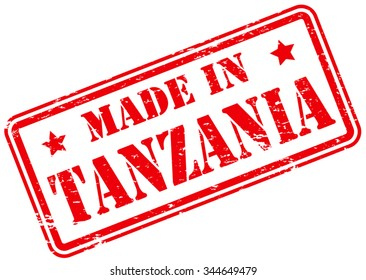 Made in Tanzania Rubber Stamp
