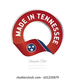 Made in Tennessee flag red color label logo icon