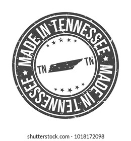 Made in Tennessee State USA Quality Original Stamp Design Vector Art
