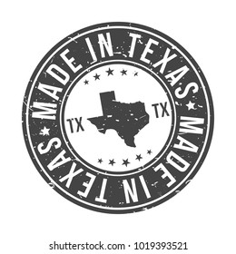 Made in Texas State USA Quality Original Stamp Design Vector Art
