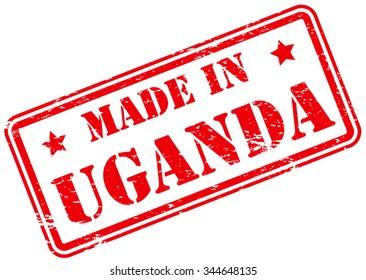Made in Uganda Rubber Stamp