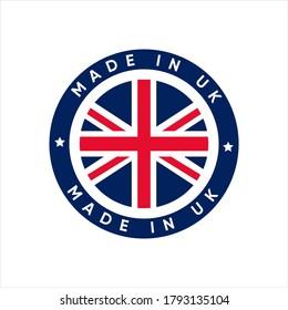 Made In UK stamp sticker vector design