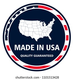 Made in United States of America quality stamp. Vector stamp Illustration