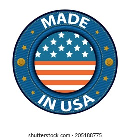 made in USA blue