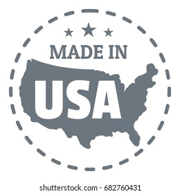 Made in USA country logo. Simple illustration of made in USA country vector logo for web design