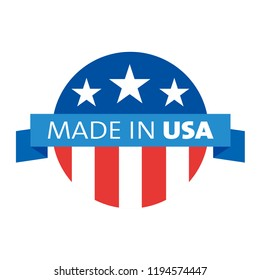 Made in USA Emblem Creative Designs Logo Modern Brand Vector Product