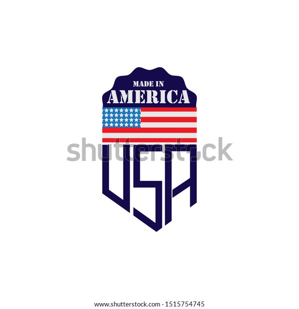 Made Usa Emblem Creative Designs Logo Stock Vector Royalty Free 1515754745