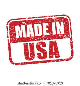 made in usa, grunge rubber stamp