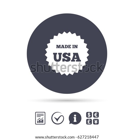 Made Usa Icon Export Production Symbol Stock Vector Royalty Free