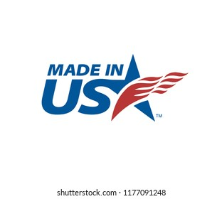 Made In USA logo for use on product packaging and corporate advertising. Unlimited use per brand, including multiple products with same brand name. New license/download required for multiple brands.