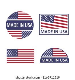 Made in USA set on a white background