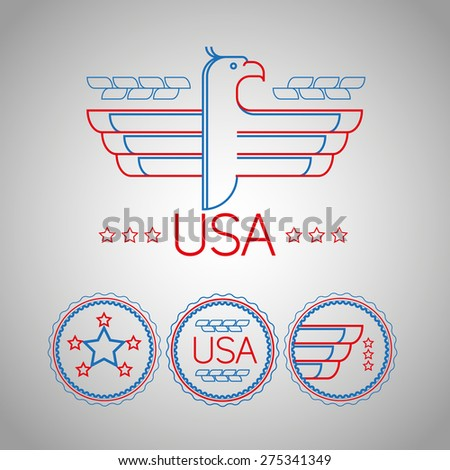 Made Usa Symbol American Color Flag Stock Vector Royalty Free