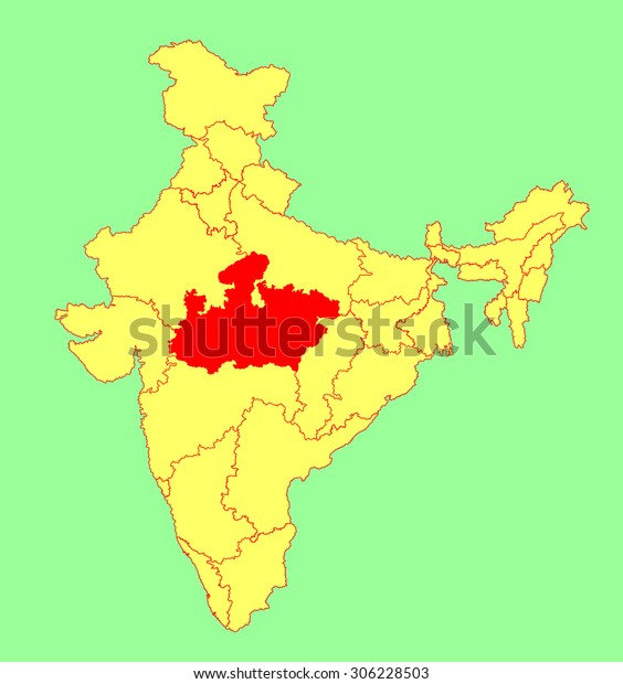 Madhya Pradesh State India Vector Map Stock Vector (Royalty ... on jharkhand state map, gujarat state map, orissa state map, bihar state map, haryana state map, chhattisgarh state map, kerala state map, assam state map, tamil nadu state map, telangana state map, bengal state map, maharashtra state map, karnataka state map, punjab state map, uttaranchal state map, andhra state map,