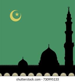Madinah mosque vector