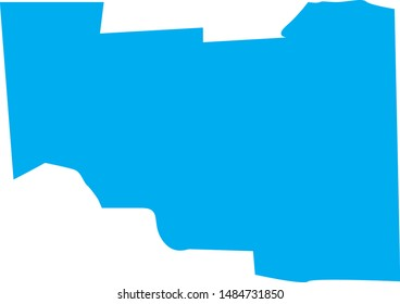 Madison  county map in state of Idaho