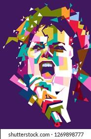 Madiun, Indonesia - December 30, 2018 : Michael Joseph Jackson (August 29, 1958 – June 25, 2009) was an American singer, songwriter and dancer