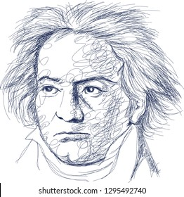 Madiun, Indonesia-January 26, 2019: Ludwig Van Beethoven Ludwig van Beethoven was a German composer and pianist