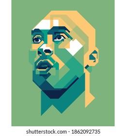 Madiun nov 27 2020: Green style Kobe Bryant