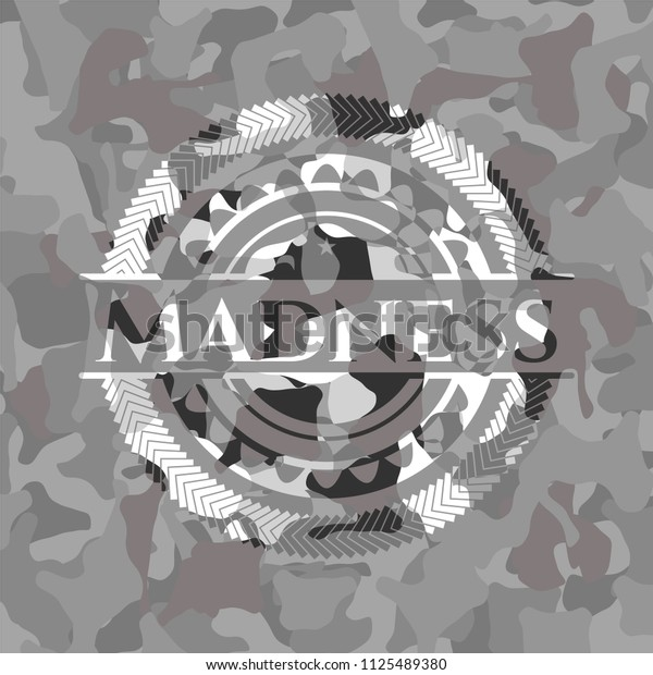 Madness on grey camo texture