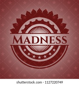 Madness retro red emblem